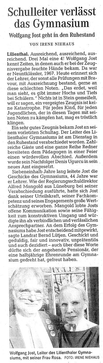 Presse 2018 gymnasium lilienthal for Spiegel 01 2018